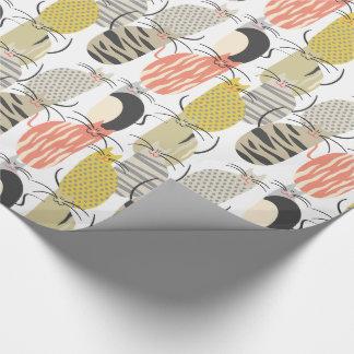 Glückliche Katzen-wunderliches Muster Geschenkpapier