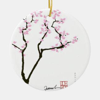 glückliche Kirschblüte und rosa Goldfisch, tony Rundes Keramik Ornament