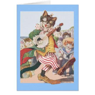 Glückliche lustige Katzen-Volksgeburtstags-Karte Grußkarte