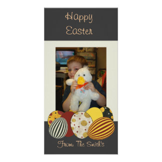 Glückliche Ostern-Foto-Karte Bildkarte