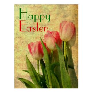 Glückliche Ostern-Frühlings-Tulpe-Postkarten Postkarten