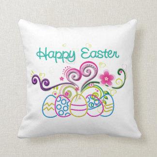 Glückliche Ostern-Glitzer-Eier u. mit Blumen Kissen