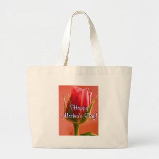 Glückliche Rosa-Rose der Mutter Tagesi Einkaufstaschen
