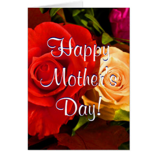Glückliche rote gelbe Rosen der Mutter Tagesii