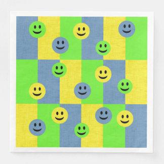 Glückliche Smiley Emoji Papierservietten