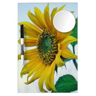 Glückliche Sonnenblume Trockenlöschtafel Mit Spiegel