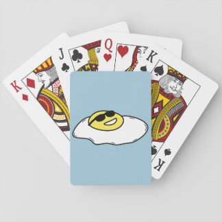 Glückliche Sonnenseite herauf Ei mit Gesicht - Kartendeck