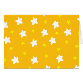 Glückliche Sterne orange Karte