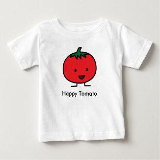 Glückliche Tomate-rote Gemüsefrucht Baby T-shirt
