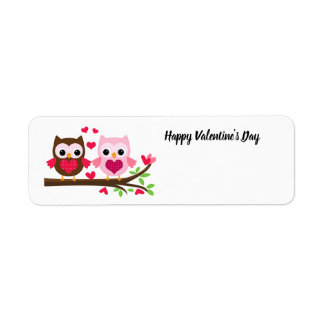Glückliche Valentinstag-Eulen