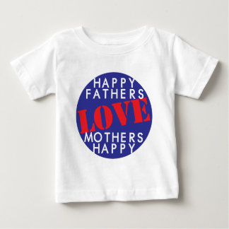 Glückliche Vater-Liebe bemuttert glückliches Baby T-shirt