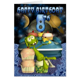 Glücklichen 8. Geburtstag Plantets Junge, Karte