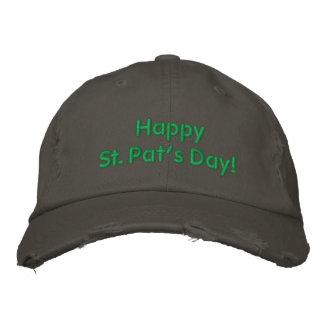 Glücklichen gestickter Hut St. Pats Tagesgrün