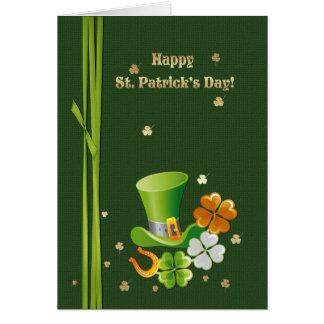 Glücklichen St Patrick Tagesgruß-Karten Karte