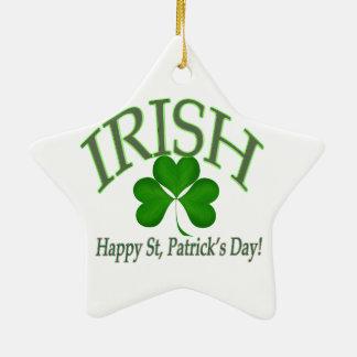 Glücklichen St Patrick Tagesirische glückliche Keramik Stern-Ornament