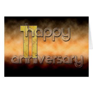 Glücklicher 11. Jahrestag (Hochzeitstag) Grußkarte