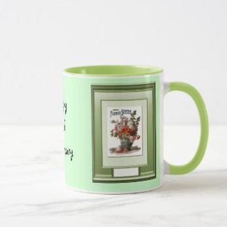 Glücklicher 23. Jahrestags-Blumenvase Tasse