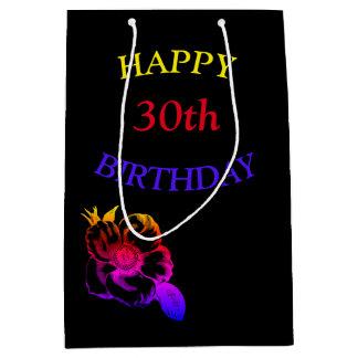 Glücklicher 30. Geburtstag Mittlere Geschenktüte
