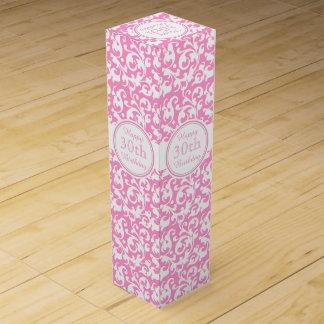 Glücklicher 30. Geburtstags-rosa und weiße Weinbox