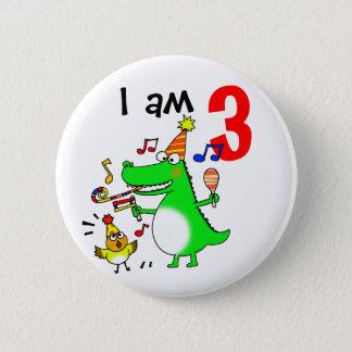 Glücklicher 3. Geburtstag (ich bin 3) Runder Button 5,7 Cm