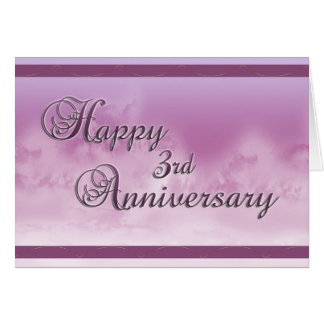 Glücklicher 3. Jahrestag (Hochzeitstag) Grußkarte