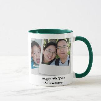 Glücklicher 5. Jahr-Jahrestag! Tasse