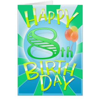 Glücklicher 8. Geburtstag Karte