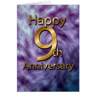 Glücklicher 9. Jahrestag (Jahrestagskarte) Grußkarte