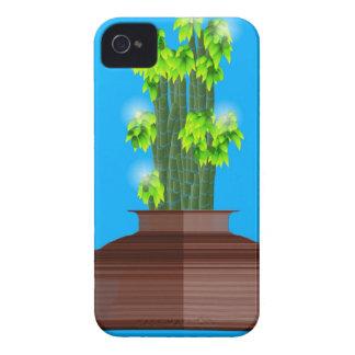 Glücklicher Bambus iPhone 4 Case-Mate Hülle
