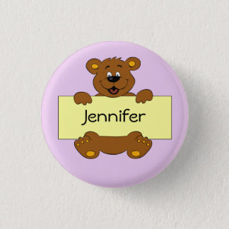 Glücklicher Bär mit kundengerechtem Runder Button 3,2 Cm