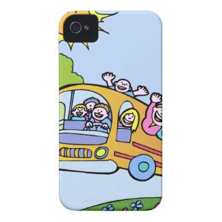 Glücklicher Bus-Reiter-Cartoon Case-Mate iPhone 4 Hüllen