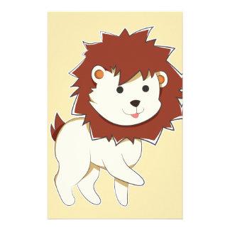 Glücklicher Cartoon-Baby-Löwe Briefpapier