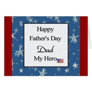 Glücklicher der Vatertags-Vati mein Held Karte
