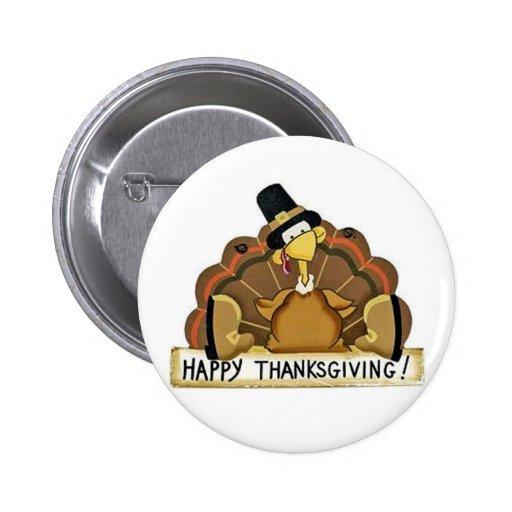 Glücklicher Erntedank die Türkei Button