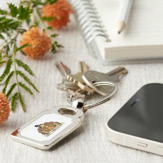 Glücklicher Erntedank die Türkei Silberfarbener Rechteckiger Schlüsselanhänger