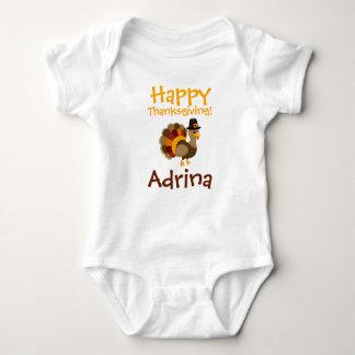 Glücklicher Erntedank-kundenspezifischer Baby Strampler
