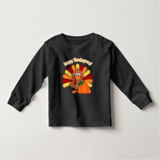 Glücklicher Erntedank-Türkeiunisexkleinkind-T - Kleinkind T-shirt