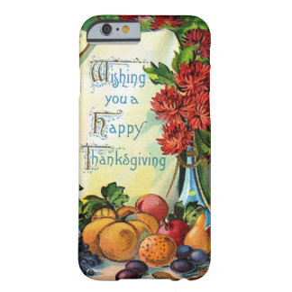 Glücklicher Erntedank-Vintage Fall-Ernte-Kunst Barely There iPhone 6 Hülle