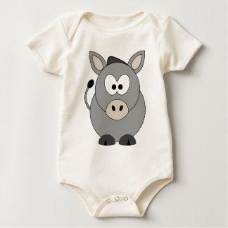 Glücklicher Esel Baby Strampler