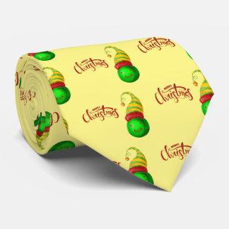 Glücklicher Gesichts-Weihnachtsball Bedruckte Krawatten