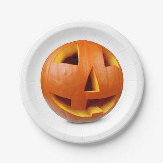 Glücklicher Halloween-Kürbis Pappteller