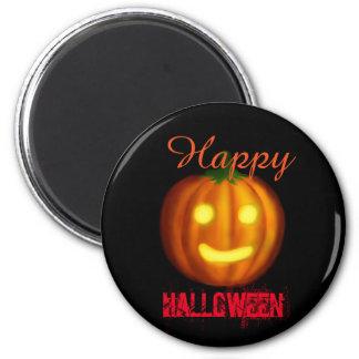 Glücklicher Halloween-Kürbis Runder Magnet 5,7 Cm