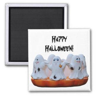 Glücklicher Halloween-Magnet Quadratischer Magnet