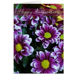 Glücklicher Hochzeits-Jahrestags-Blumenstrauß der Grußkarte