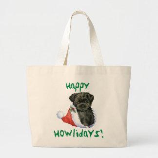 Glücklicher Howliday Affenpinscher Jumbo Stoffbeutel