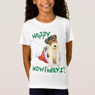 Glücklicher Howliday Draht-Foxterrier T-Shirt