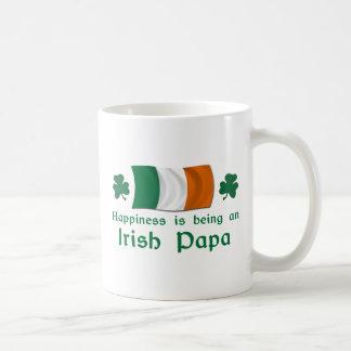 Glücklicher irischer Papa Tasse