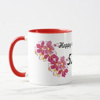 Glücklicher Jahrestag 52. Tasse