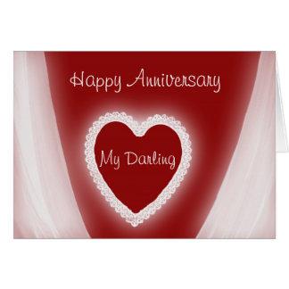 Glücklicher Jahrestag mein süßes romantisches Grußkarte