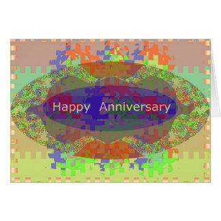 Glücklicher Jahrestag - orientalische Grußkarte